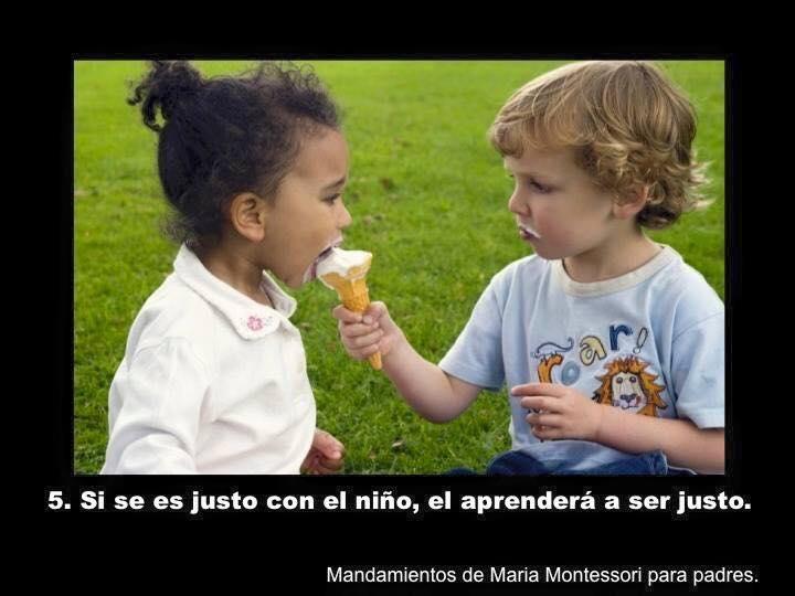 ¿Conoces el método Montessori? ¿Sabes que hay una serie de mandamientos que todo niño debería conocer? ¡Nos encantan!