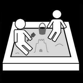 Pictogram Zandbak spelen