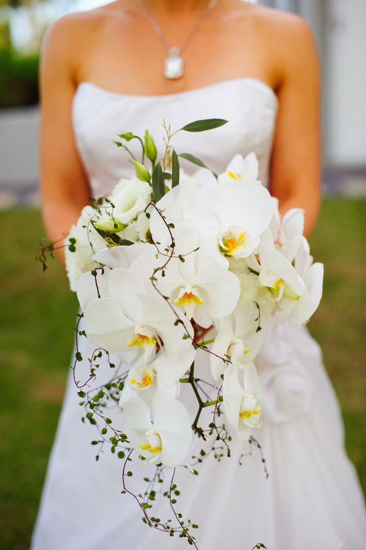 My incredible orchid wedding bouquet!