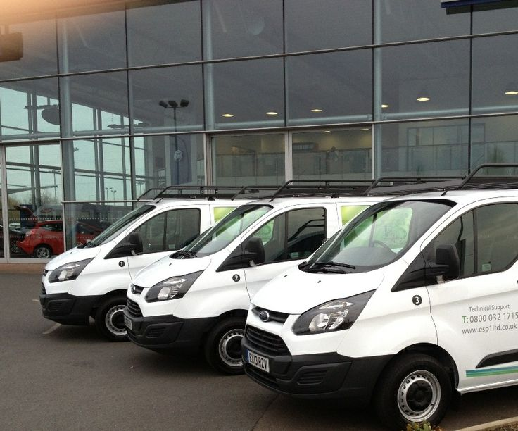 The handover of 3 new Ford Transit Customs to Basildon company, The Environment Safety Partnership.