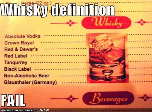 Whisky definition  FAIL