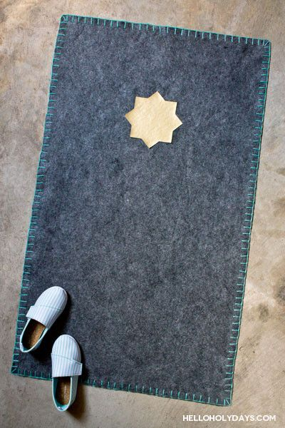 Homemade Ramadan Gifts: Felt Prayer Rug