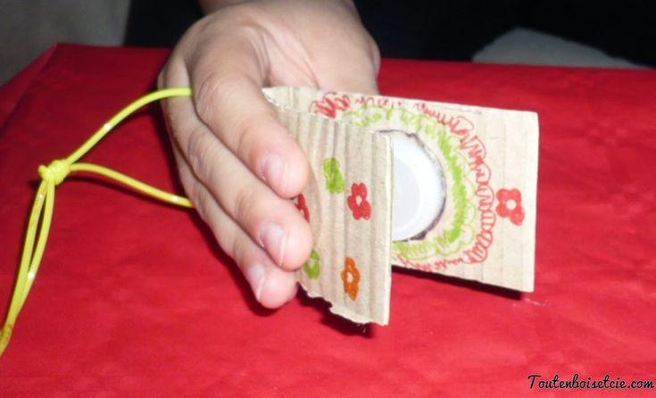 réaliser des castagnettes en carton