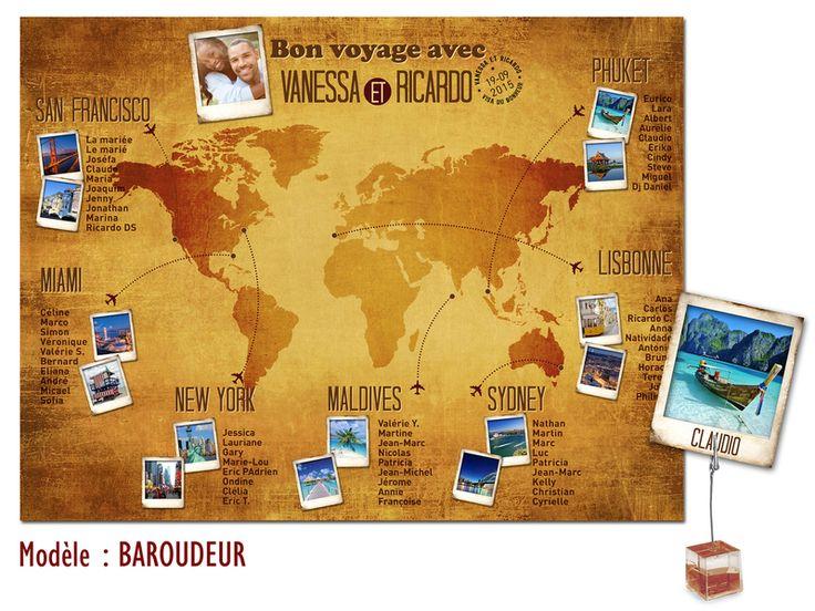 Plan De Table Mariage Th Me Voyage Baroudeur Plandetable Plantables Mariage Voyage