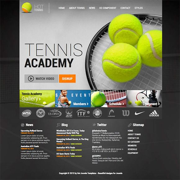 Hot Tennis by hot-themes on @creativemarket