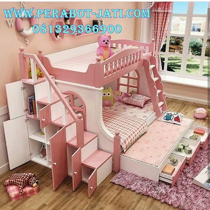Jual Ranjang Susun Mewah Warna Pink Cute Ranjang tingkat