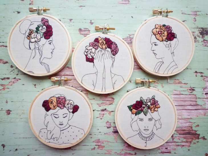 Embroidered / Drawing objects in the hoop