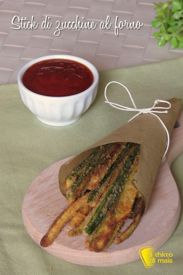 verticale_stick di zucchine al forno ricetta light facile e veloce con pangrattato e spezie il chicco di mais