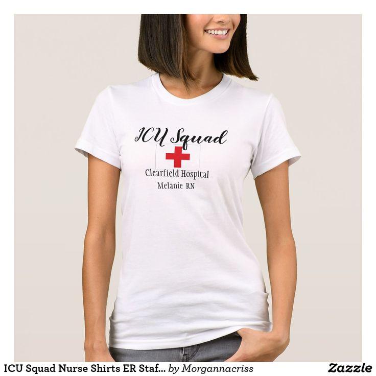 ICU Squad Nurse Shirts ER Staff Hospital Uniforms