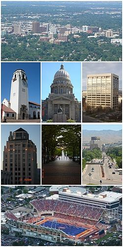 Boise, Idaho. Boise Train Depot, Capital building, downtown, City of Trees, 9th street, Hoff Building, BSU.