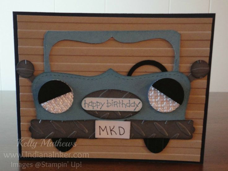 pinterest stampin up fathers day cards   This was fun to create. I found the idea on Pinterest that had been ...