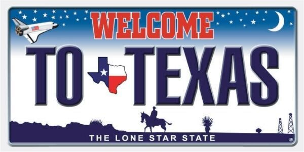 New Welcome to Texas State License Plate Bath Beach Pool Cotton Towel Texan Gift
