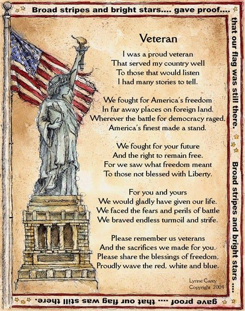 Veterans Day 2015 Poems As Thank Yous For Happy Holiday | Heavy ...