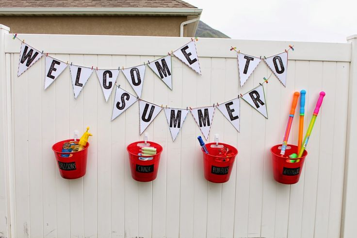 """How to Throw the Ultimate """"Welcome Summer"""" Party — Fill up those water balloons and prepare yourself to get soaked!"""