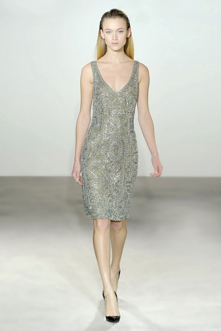 Collette Dinnigan Jewelled Armour Sleeveless Dress