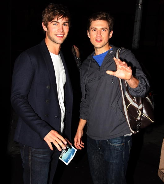 aaron tveit and chase Crawford after 'catch me if you can'  I love how awesome aaron and chase are :)  chase supported aaron on everything he did while they were on 'gossip girl' together.  aaron just seems to inspire that kind of awesomeness in everyone around him.  such an amazing man :)