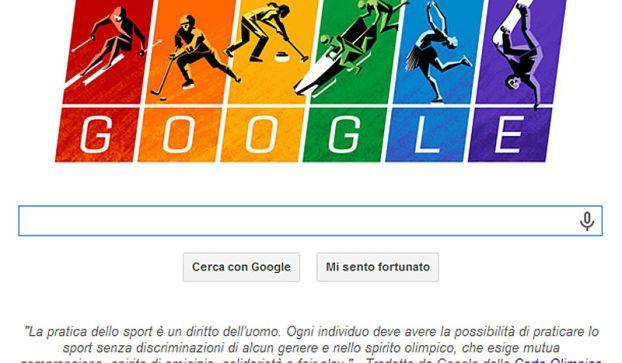 Carta olimpica: doodle google omaggio a Sochi 2014