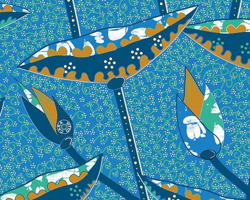 Nuit africaine, encore un motif qui inspire. Création design textile. Inspiration wax. www.caravitto.com