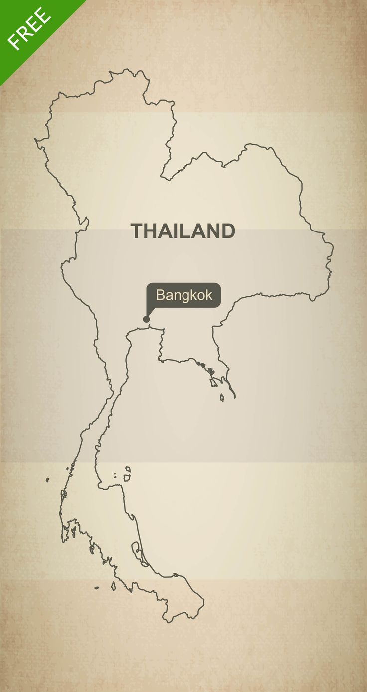 Free Vector Map of Thailand Outline | Vector format