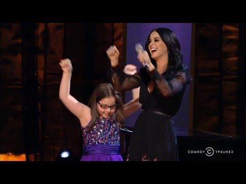 Katy Perry, Jodi DiPiazza Sing at Night of Too Many Stars.  (little girl has an adorable voice - oh yeah, and autism. Incredible....this made me cry happy tears to see the way Katy looks at this little girl.