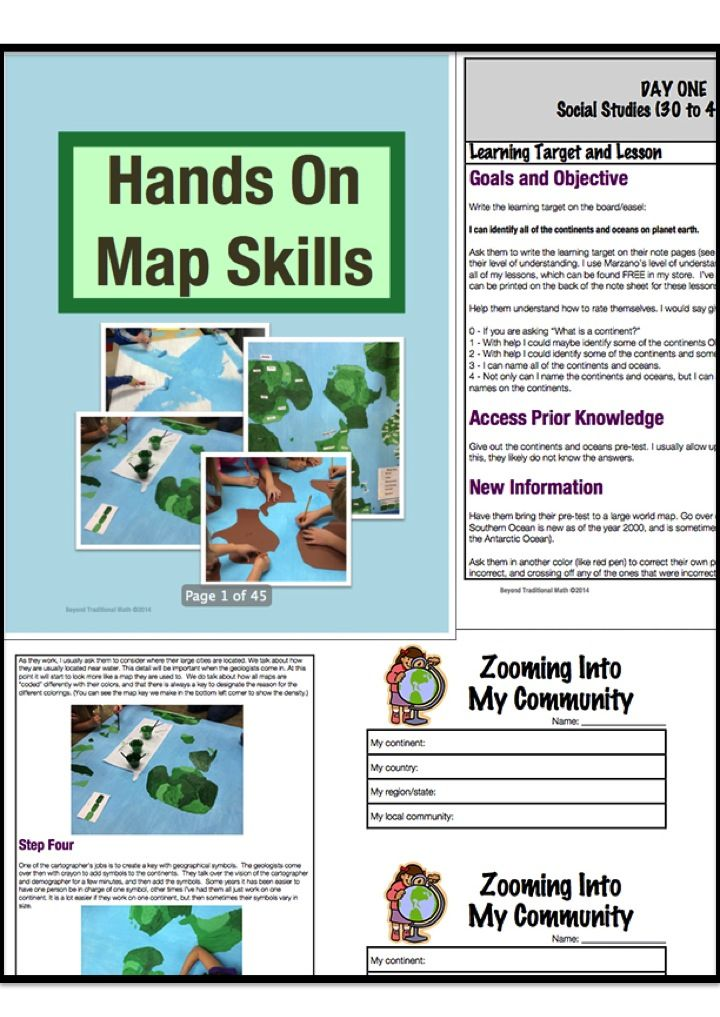 Cross-curricular project which aims at teaching map skills