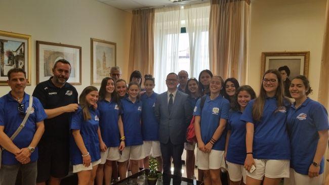 Panthers Roseto al Campionato Nazionale U16  Il saluto del sindaco