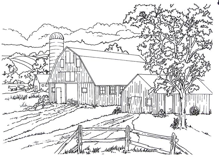 38 best Living in the Country Coloring Book Pages images