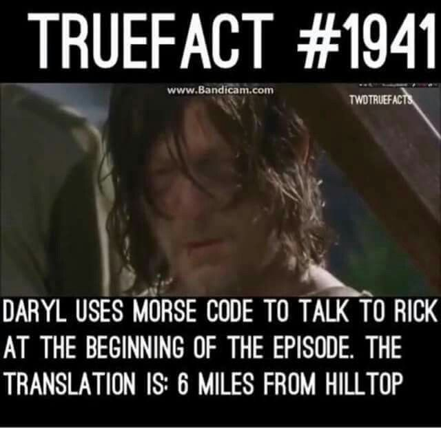 It's actually a theory. Robert Kirkman said that it's probably just Norman and Andrew communicating.