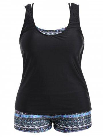 9195492da75 Shop for Lake Blue 3xl Tribal Print Padded Bra Plus Size Bathing Suit  online at $26.81