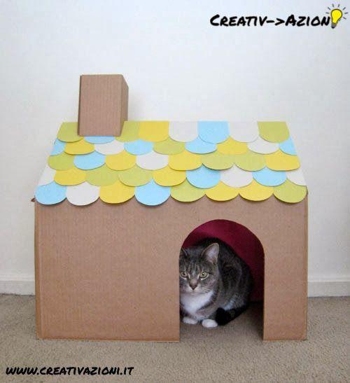 Un'idea per una casetta per gatti.