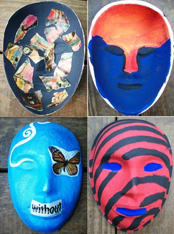 painted masks art therapy - Google Search