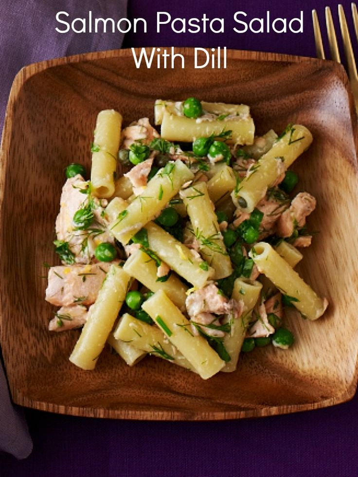 Salmon Pasta Salad with Dill