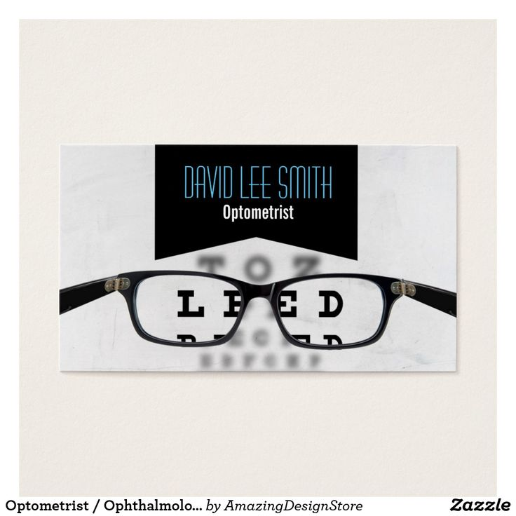 The 21 best Optometrist Ophthalmologist Eye Doctor Business Cards ...