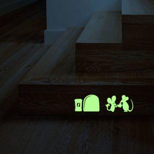 Sticker phosphorescent Amour de souris