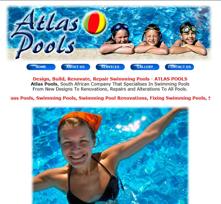 Website Design By DRAGAN GRAFIX - ATLAS POOLS - South African Company That Specialises In Swimming Pools From New Designs To Renovations, Repairs and Alterations To All Pools. http://www.atlaspools.co.za