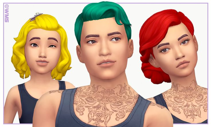 Sims 4 CCs - The Best: PARENTHOOD HAIR RECOLOURS by