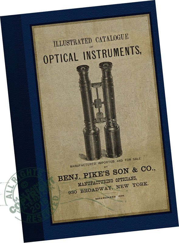 a6fd86568f4 Benj Pike s Son 1880 CATALOG Optical Instruments Microsocpes Telescopes  Medical