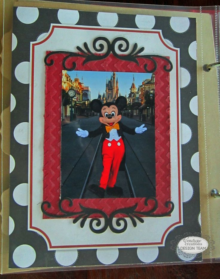 Couture Creations: Disneyland Pocket Pages by Kerrie Gurney | #couturecreationsaus #pocketpages #decorativedies #embossingfolders #Disneyland #simplestories #minialbum #travel #scrapbooking #coredinations