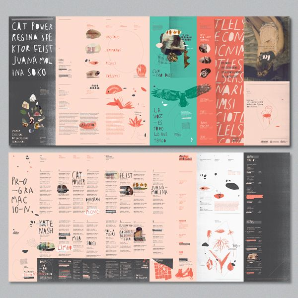 LA | Festival de vocalistas femeninas by Dolores Oliver, via Behance