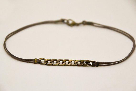 Men/'s Ankle Bracelet Leather Anklet Silver Plated Bead Anklet  Knots Anklet Men/'s Body Leather Jewellery