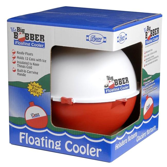 The Big Bobber Floating Cooler is designed to hold 12 cans with ice. Get everyone's attention with this... Great for the pool, lake, boating, rafting, float tubes, anywhere there's water or fun! It really floats!