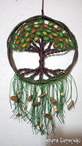 Filtro dos Sonhos Árvore da Vida Macramê