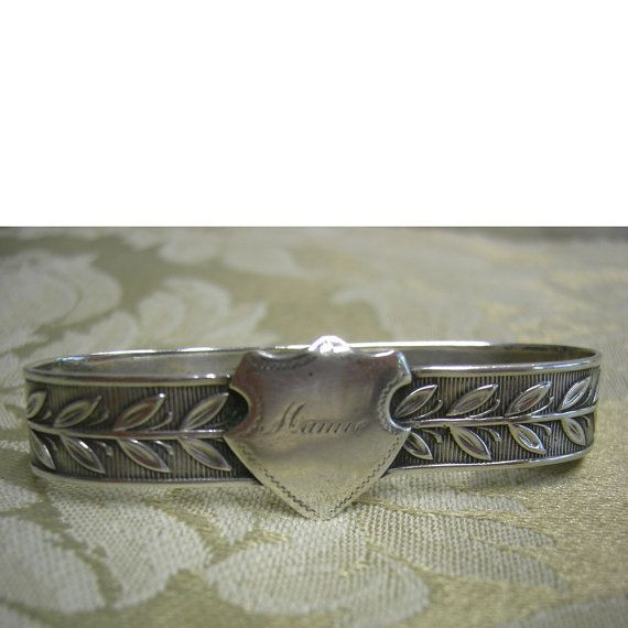 Vintage Silver Napkin Ring  Monogramed Mamie by Vintageartshome, $25.00