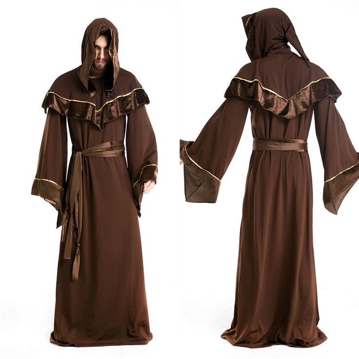 Volwassen mannen gothic dark sorcerer warlock wizard halloween halloween gandalf kostuum mens heks cosplay lange priest japon fantasias kinderkleding(China (Mainland))