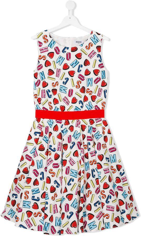 ae469f2df Moschino Kids printed dress   Products   Kids prints, Kids fashion ...