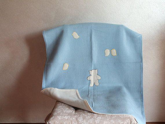 Copertina per bambino neonato, copertina in pile azzurro