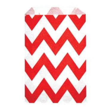 Paper Lolly Bags Red Chevron - Party Shop :: Big Dreams