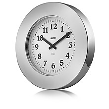Alessi Stainless Momento Wall Clock - Lux Bond & Green