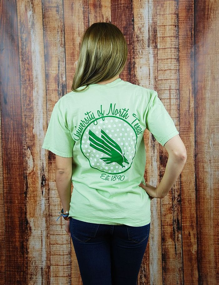 Hey University of North Texas fan! Show your love for the Mean Green on game day in this awesome Short Sleeve Comfort Color UNT t-shirt! Go Mean Green!