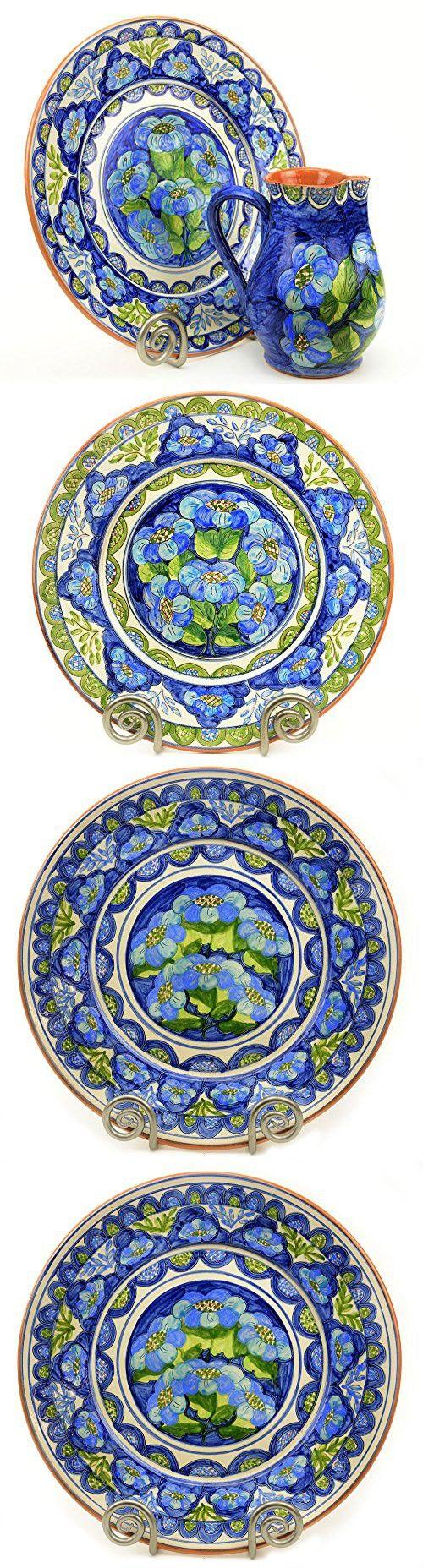 Decorative Plate for Home Decor, Mediterranean Blue and Green, Medium
